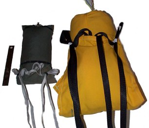 Two loaded deployment bags; alternate angle